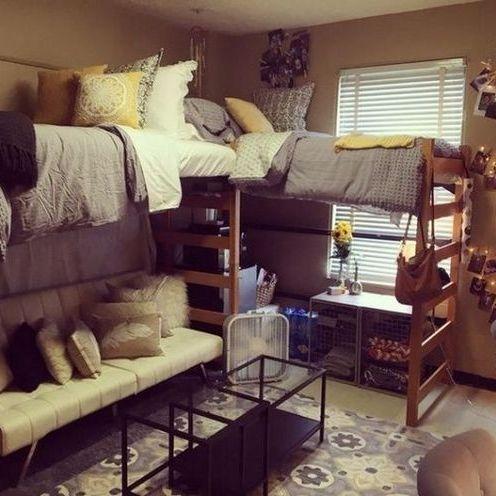Dorm Room Ideas Lofted Bed Desk