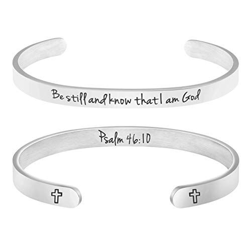 Memgift Scripture Bracelet for Mom Personalized Bangle Jewelry