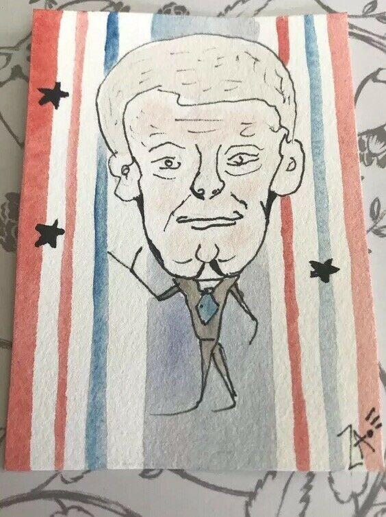 Biden Presidential 2019 2020 Art Aceo Original Painting Watercolor Painting Ideas Of Painting Painting Decor Original Paintings Art Information Art