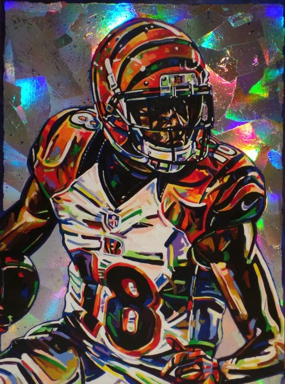 A.J. Green, Bengals by Shawn Voelker.