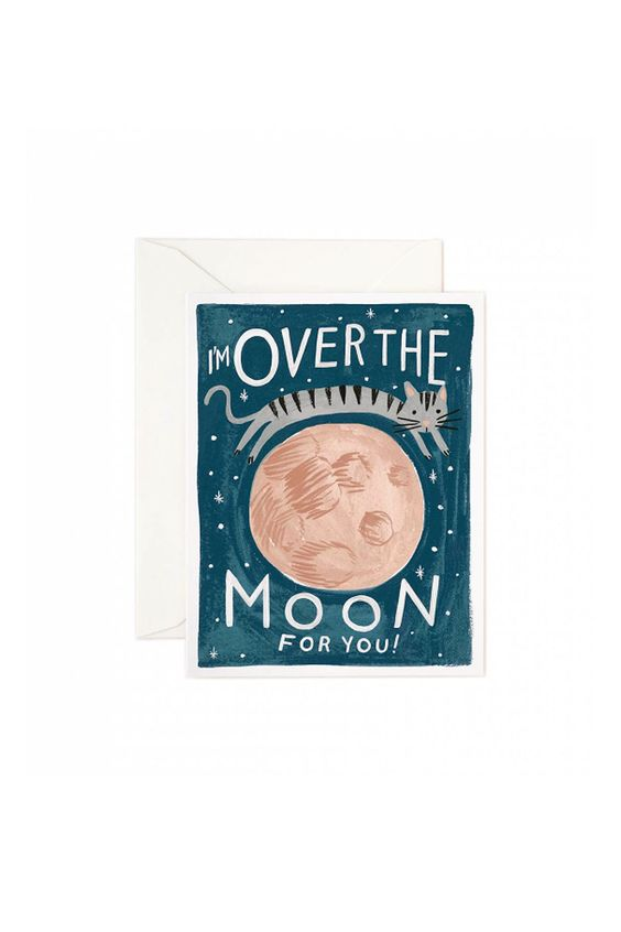 I'm Over the Moon for You! Card