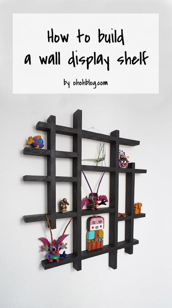 How To Make A Wall Display Shelf Ohoh Deco Diy Display Shelf Display Shelves Wall Display