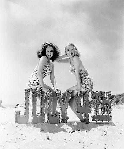 Susan Hayward and Virginia Dale 1940