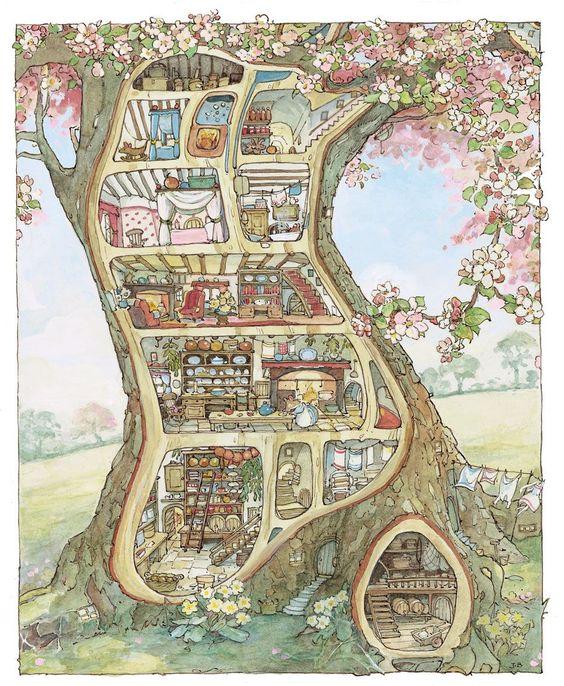 Jill Barklem Brambly Hedge picture book illustrations.