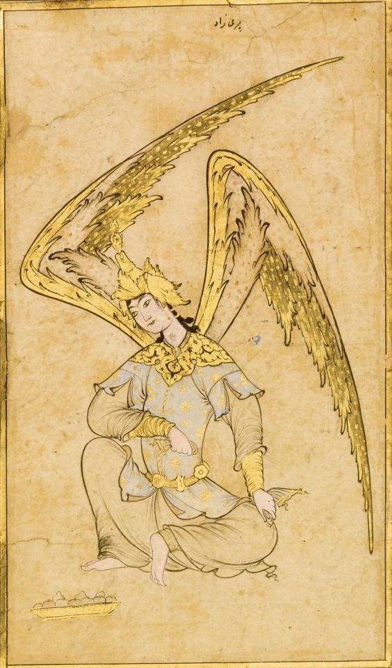 An Ottoman Drawing of a Peri, attributable to Veli Can, Turkey, 16th century | Lot | Sotheby's