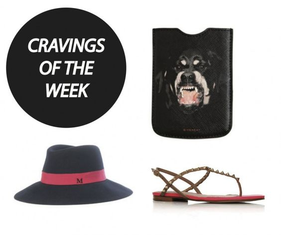 GIVENCHY Rottweiler blackberry case // MAISON MICHEL Lauren hat // KURT GEIGER Elena sandals