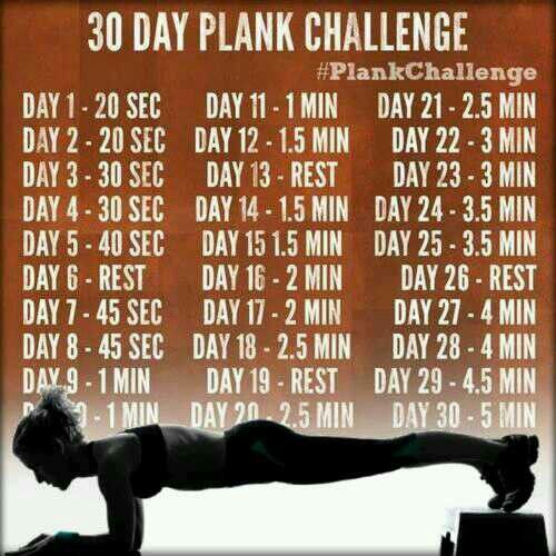 30 Day Plank Challenge. Feel The Burn.
