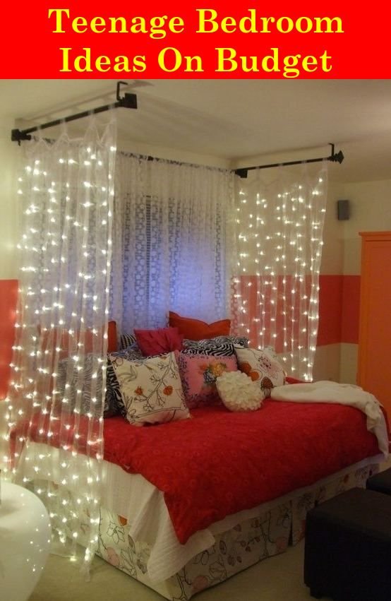 Teenagers Bedroom Ideas Redecorating On A Budget Diy Bedroom Decor Bedroom Diy Canopy Bed Diy