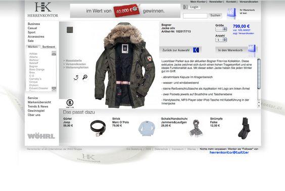curlee true communication gestaltet Onlineshop für Wöhrl/ Herrenkontor