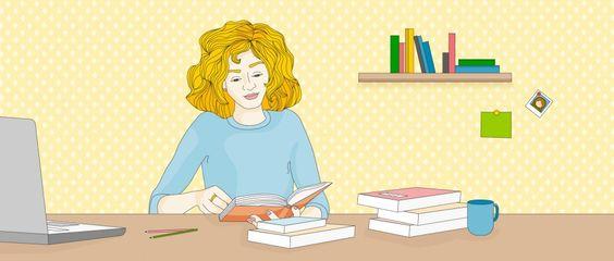 Wenn du Texte für die Schule schneller lesen könntest, hättest du mehr Freizeit. Klingt verlockend, oder? Aber funktionieren Schnelllesetechniken? Mehr dazu hier: http://magazin.sofatutor.com/schueler/2016/12/19/lernmythen-funktionieren-schnelllesetechniken/  Illustration: Mädchen liest am Schreibtisch