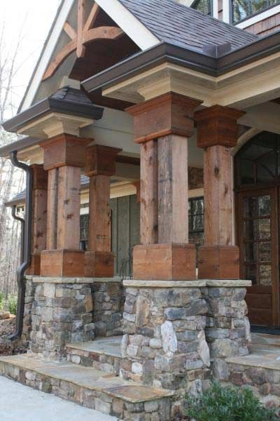 House pictures beautiful craftsman and rock and for Craftsman stone