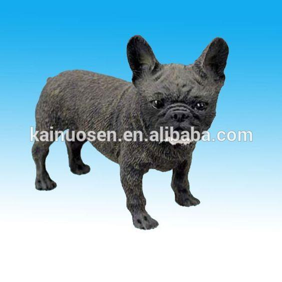 Black resin french bulldog #Black_French, #bulldog