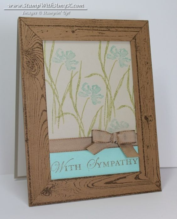 Hardwood Love & Sympathy Card - Stampin' Up! - Stamp With Amy K