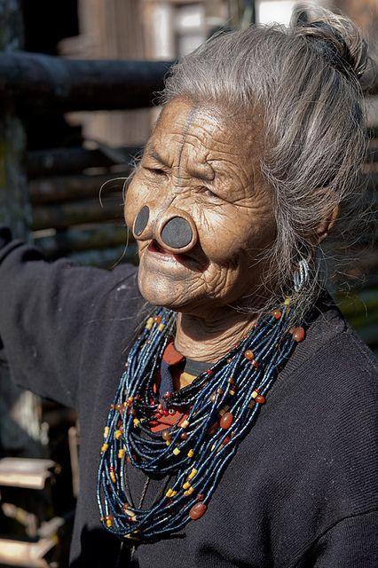 Anciana Apatani, India.