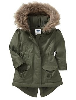 Faux-Fur-Hooded Coats for Baby | Old Navy | for the little