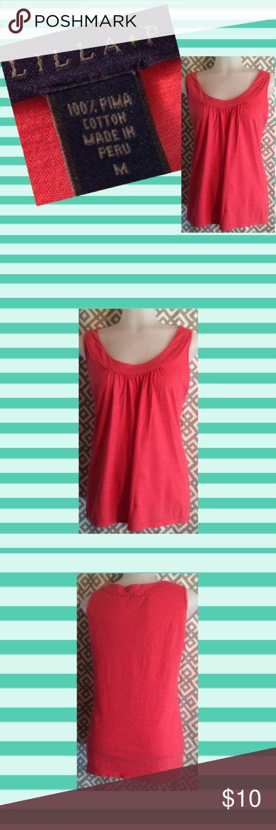 Lilla P coral colored top, M Sleeveless coral colored top. 100% Pima cotton. Lilla P Tops