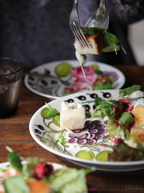 北欧アンティーク食器ブドウ
