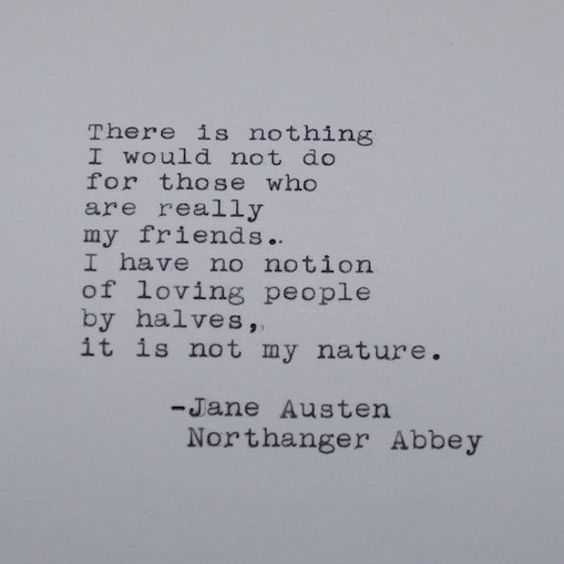 Jane Austen Quote from Northanger Abbey Typed on Typewriter by #LettersWithImpact: