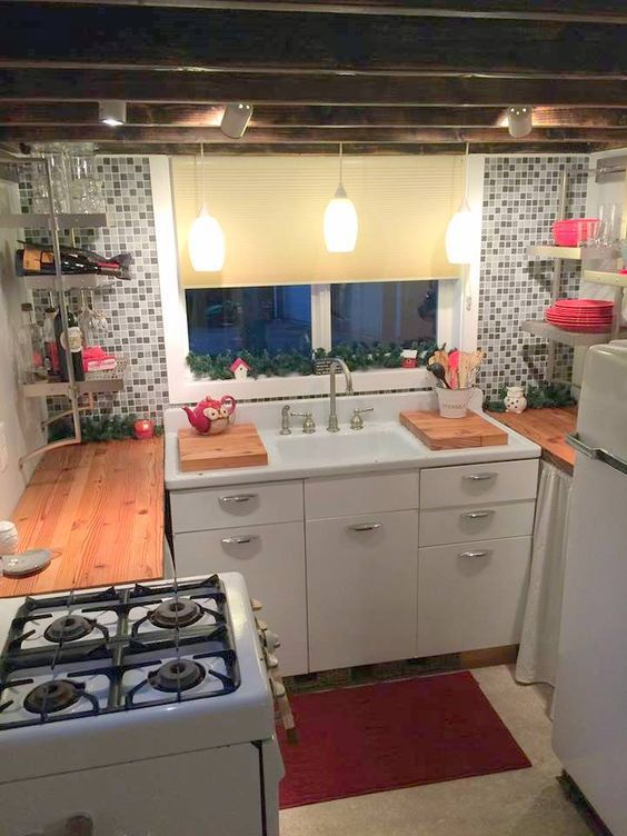 Tiny Kitchen Small Kitchen Kitchen Ideas For Small Space Mini Kitchen Ideas Efficiency Kitchen Tiny House Kitchen Kitchen Design Small House Design Kitchen
