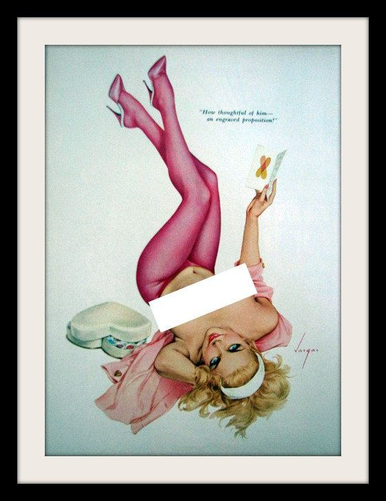 Alberto Vargas Valentine's Day Pin Up. Pretty in Pink!