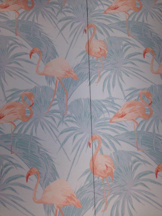Flamingo-behang van Hornbach