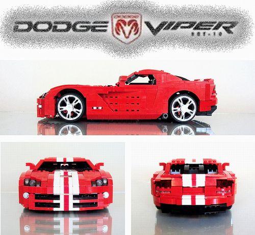 Dodge Viper SRT10 LEGO overall view