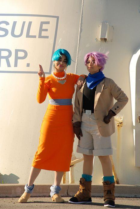 Anime: Dragon Ball. Characters: Trunx. Version: Teenager. & Bullma. Version: Midage Mother. Cosplayers: Andree Nicole Warner 'aka' Technoranma (Quantum Destiny) & Alex Warner 'aka' Glay. From: Ontario, Canada. Event: Anime North 2009.