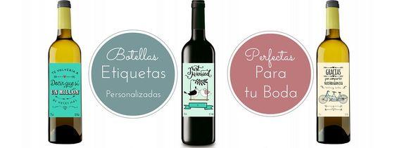 Etiquetas de Vino Personalizadas para bodas