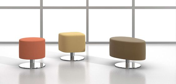 Nevins Coast Stools with disc bases