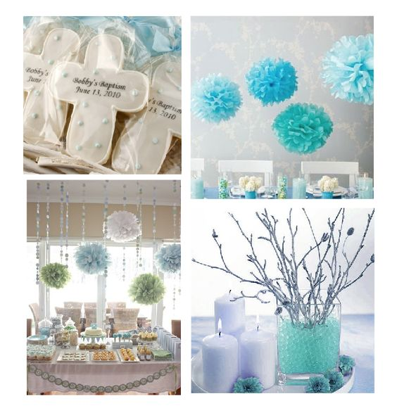 Baby boy christening table decoration ideas google for Baby baptism decoration ideas