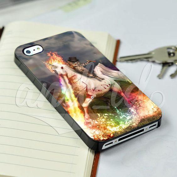 Funny Cat Riding Unicorn Kitten Horse for iPhone 5/5c/6/6 Plus Hard Case #UnbrandedGeneric