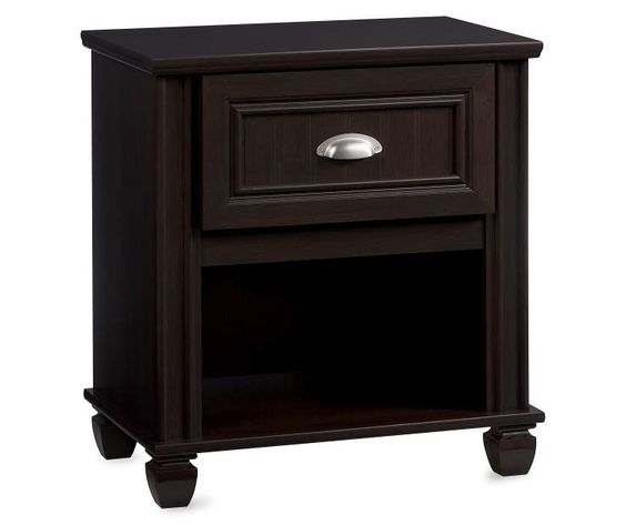 Dark Russet Cherry Nightstand at Big Lots.