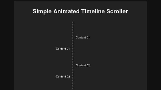 simple responsive timeline