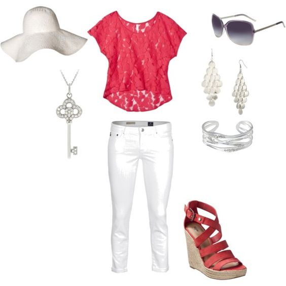 If the shoes were pink...the key makes this outfit. LOVE the shirt.