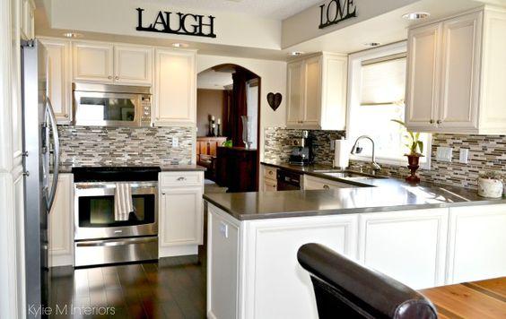 Oak kitchen remodel, Oak kitchens and Cream cabinets on Pinterest