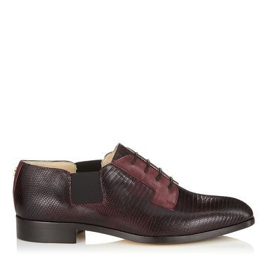 Mirto Embossed Leather and Suede Slip On Brogues