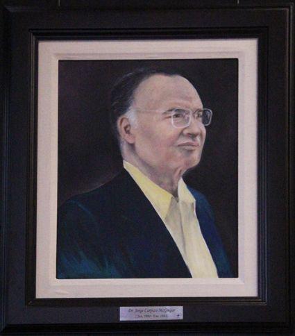 Retrato del Dr. Jorge Carpizo en la oficina de #RaúlPlascencia