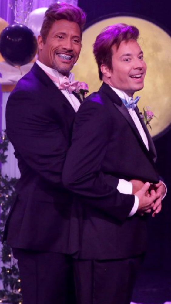 Dwayne Johnson and Jimmy Fallon go to the Prom!!!