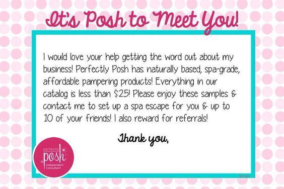 Posh to meet you!