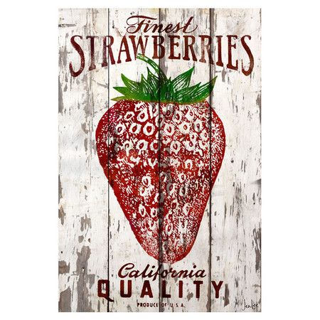 Finest Strawberries Wall Decor.: