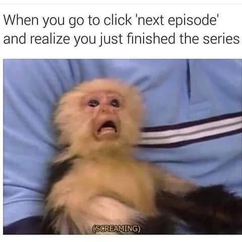 Darn, now I gotta wait another yer for the new season. Netflix