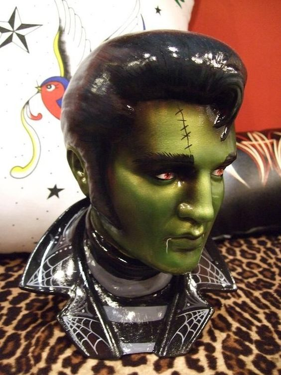I must HAVE this!!!! MADE to ORDER Zombie Rockabilly Ceramic by missluckyhellcatart, $100.00