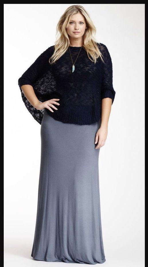 ladies plus size maxi skirts