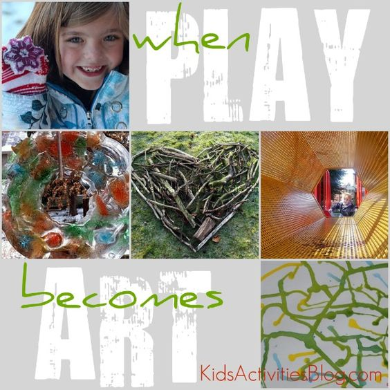 I love it when play turns into a thing of beauty.  A list of craft/art ideas for kids...