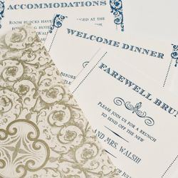 Planning a weekend wedding?  Here's a great invitation suite for you! (Alante Photography)