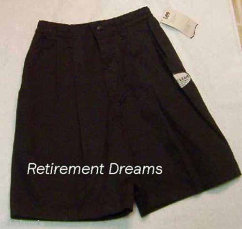 Navy Blue Khakis Shorts Size 6 M New Lee Stretch Womens Elastic Pleated Front | eBay