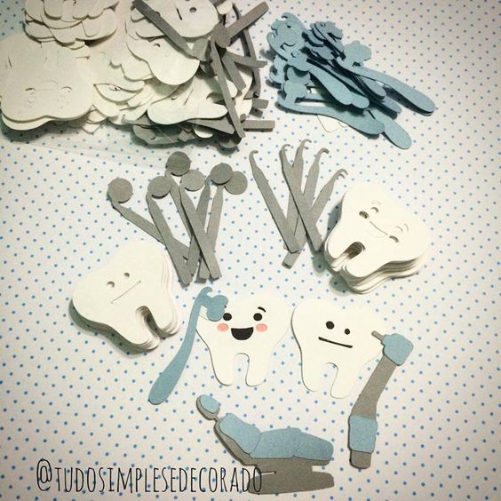Apliques Kit Dentista para sua festinha - by @tudosimplesedecorado Coleção à venda no site: www.elo7.com.br/tudosimplesedecorado