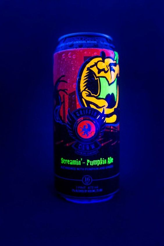 This Seasonal Pumpkin Ale is Packaged in a Glow-in-the-Dark Can #pumpkin trendhunter.com
