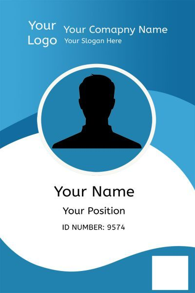 Id Card One Front Id Card Template Employee Id Card Name Card Design