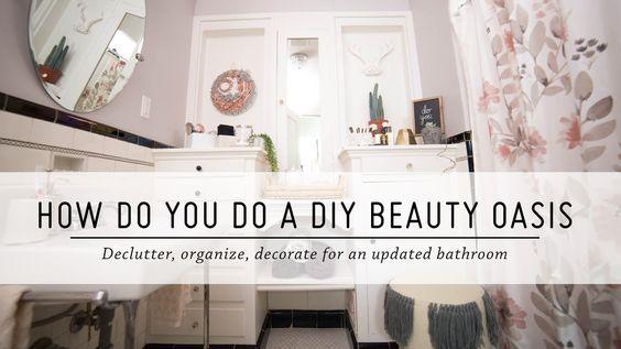 How Do You Do a DIY Beauty Oasis? | Bathroom Makeover | DIY Home Decor | Mr Kate - YouTube